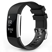 MoKo Fitbit Charge 2 Band, Soft Silicone Printing Adjustable Replacement Sport Strap Band for Fitbit Charge 2 Heart Rate + Fitness Wristband