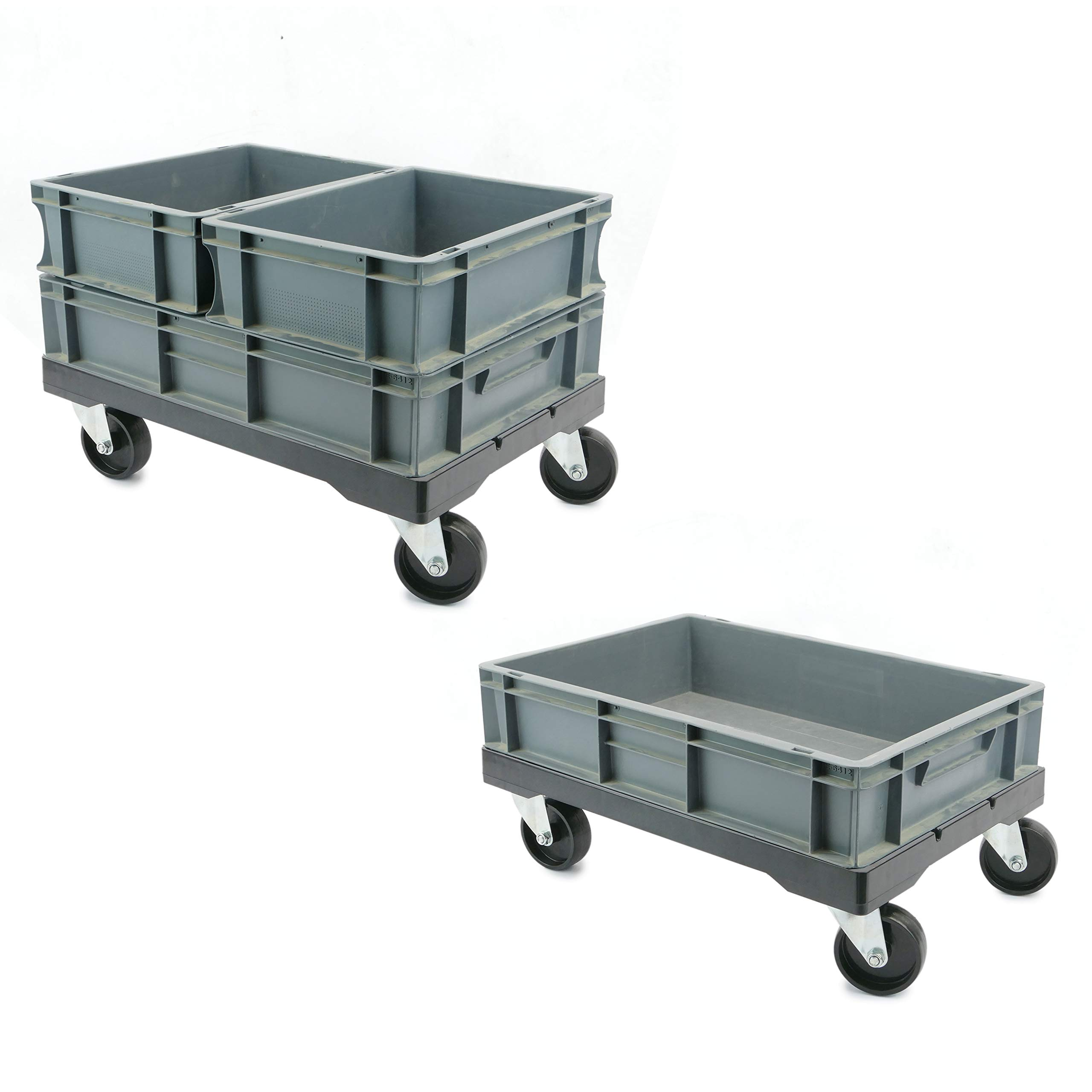 PrimeMatik - Platform with Wheels for Carrying Eurobox Boxes 60 x 40 cm (KA081) by PrimeMatik (Image #10)
