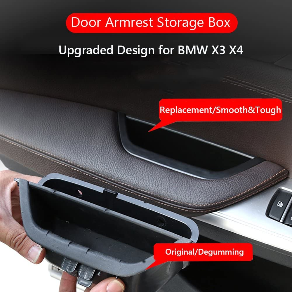 LLKUANG For BMW X3 F25 2011-2016 X4 F26 2014-2016 Storage Box Glove Armrest Box with Mat