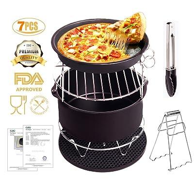 Accessoires de friteuse Friteuse pour Gowise Phillips et Cozyna avec le matériel de bâton de Non Stick Convient à tous 3.7QT-5.3QT-5.8QT Set de 5 pour le gâteau Pizza Pizza [2 cadeau spécial]