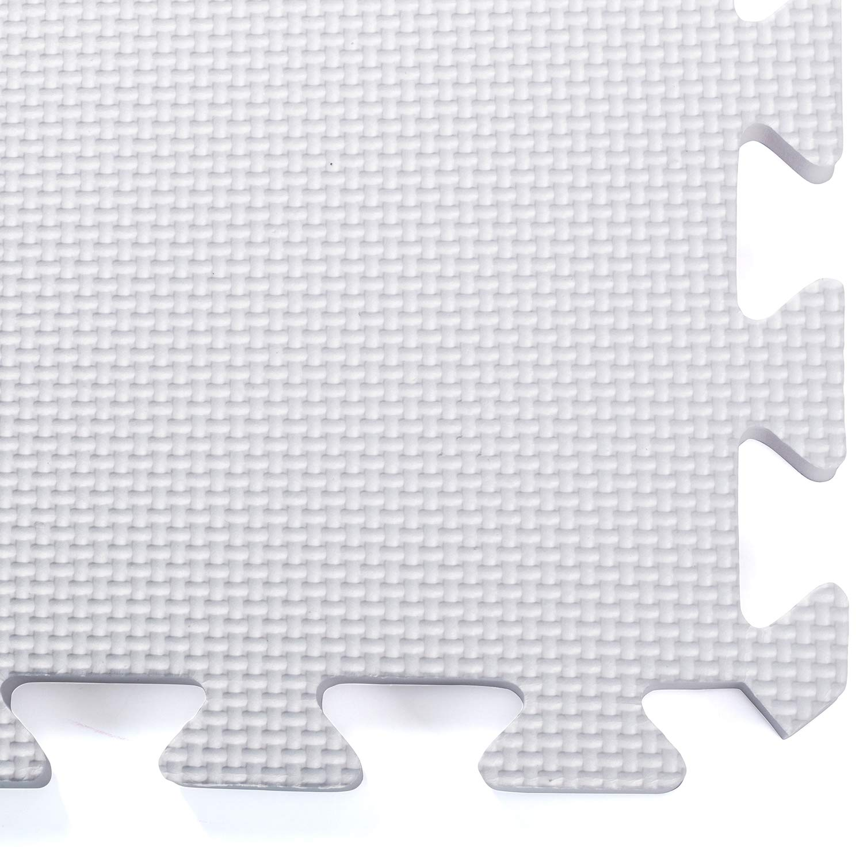 Play Mats for Infants Foam Floor Tiles Easy to Clean Non-Toxic Gray Foam Play Mat Dooboe Play Mat Soft Reusable