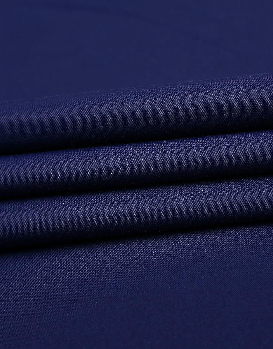 J.VER Mens Business Dress Shirts Regular Fit Solid Color Long Sleeve Spread Collar