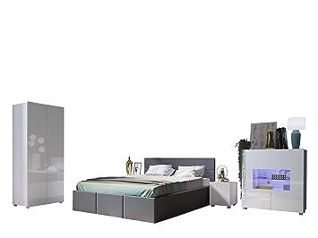 Mirjan24 Schlafzimmer Set Calabrini Xix Ehebett Mit Bettkasten