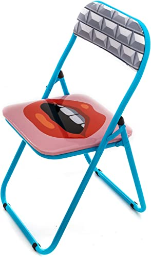 Seletti Blow Mouth Folding Chair with Decor
