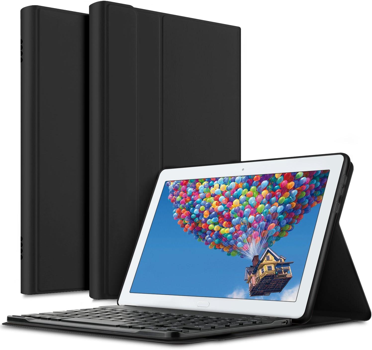 Amazon.com: ELTD Keyboard Case for Huawei MediaPad M5 Lite ...