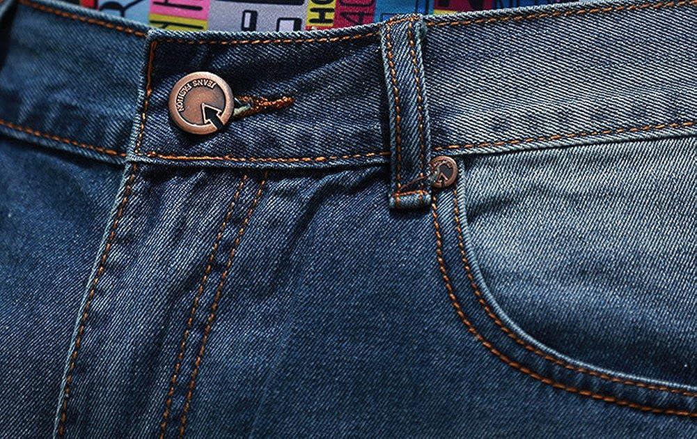 QBO Mens Fashion Half Pant Denim Shorts Summer Baggy Jeans