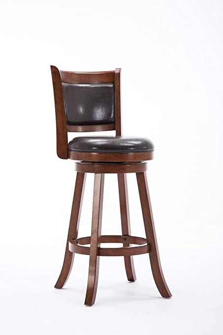 Prime Boraam Augusta Bar Height Swivel Stool 29 Inch Cappuccino With Dark Brown Pu Gmtry Best Dining Table And Chair Ideas Images Gmtryco