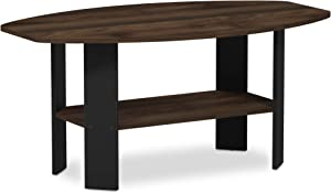 FURINNO Simple Design Coffee Table, Columbia Walnut/Black