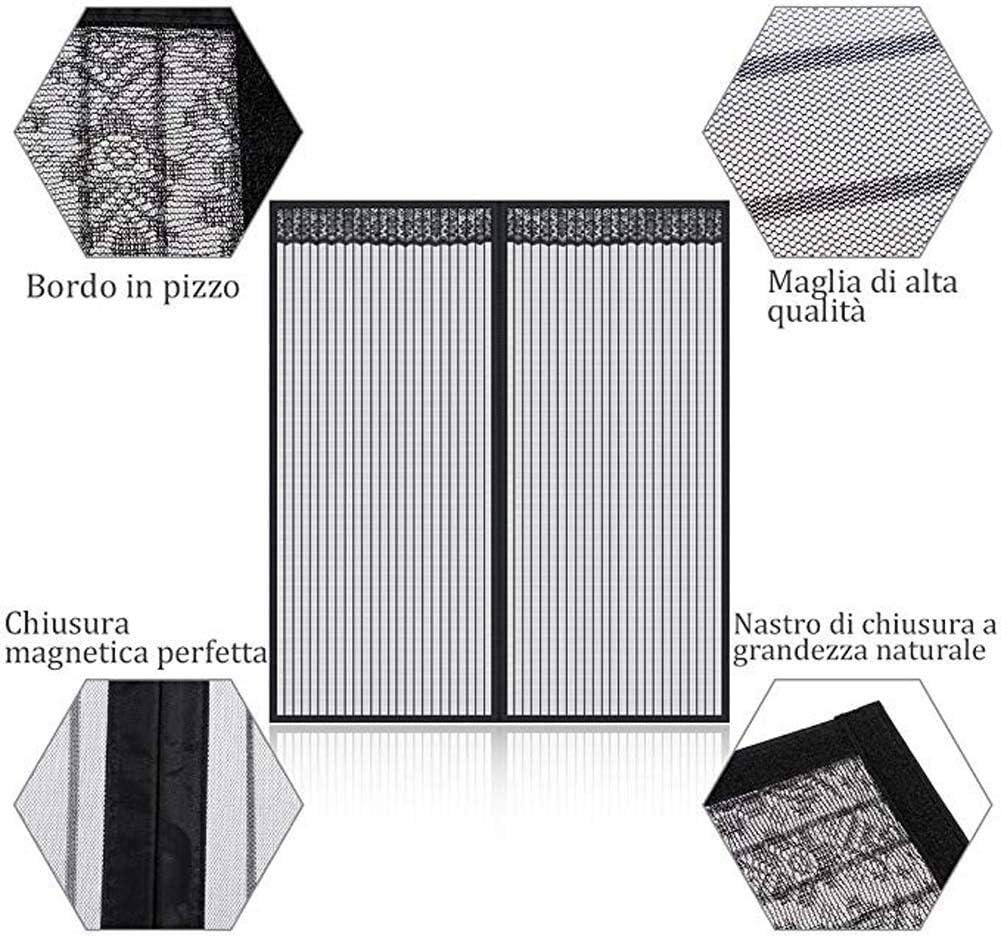 Schutz gegen M/ücken 28x31inch Durchsichtiges Fiberglasgewebe Fliegengitter UV-best/ändig,Black,70x80cm INOBXR Anti-Moskito-Vorhang