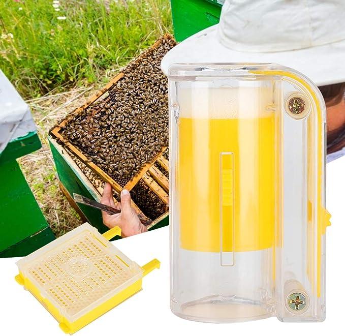 Ichiias Pequeña Herramienta de cría de Abejas, Jaula de Abejas Reina, plástico Duradero, Agricultura Ligera, Agricultura, acuicultura para apicultores
