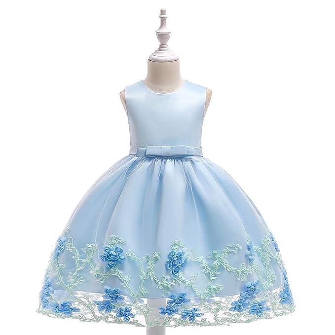 Amazon.com: Vestido de princesa con lazo de flores para ...