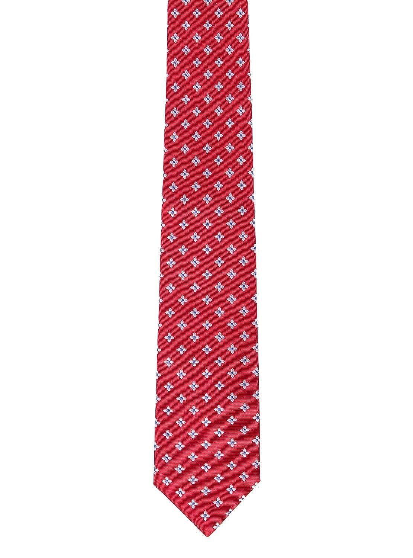 Corbata Hacket Flower Neat roja: Amazon.es: Ropa y accesorios