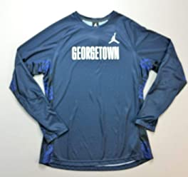 Nike Jordan Georgetown Hoyas Flight Team Shooting Shirt Navy Blue LARGE NWT