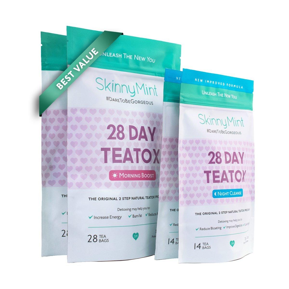 SkinnyMint - Besties Value Teatox Multi-Pack (2x28 Day) Detox Tea