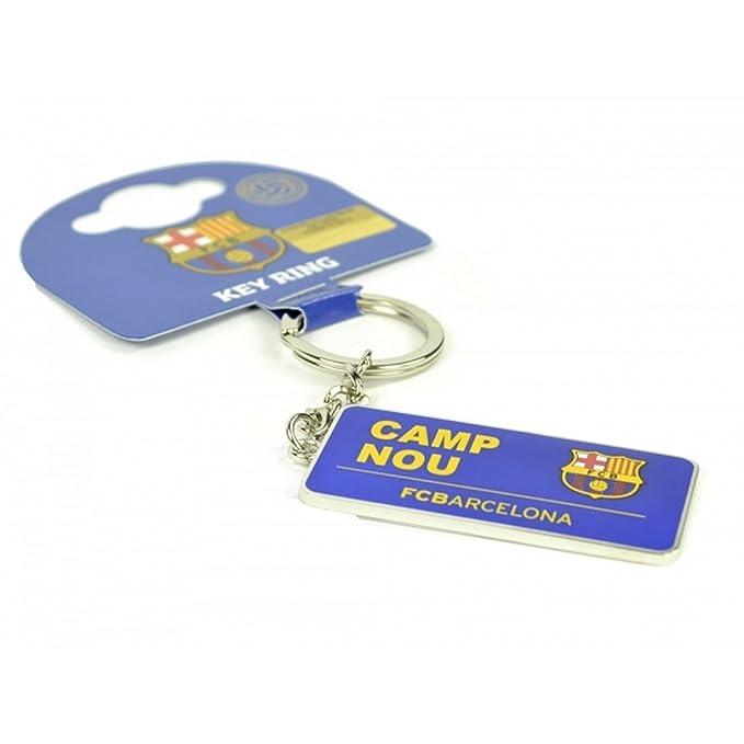 FCB FC Barcelona Oficial - Llavero con letrero de estadio ...