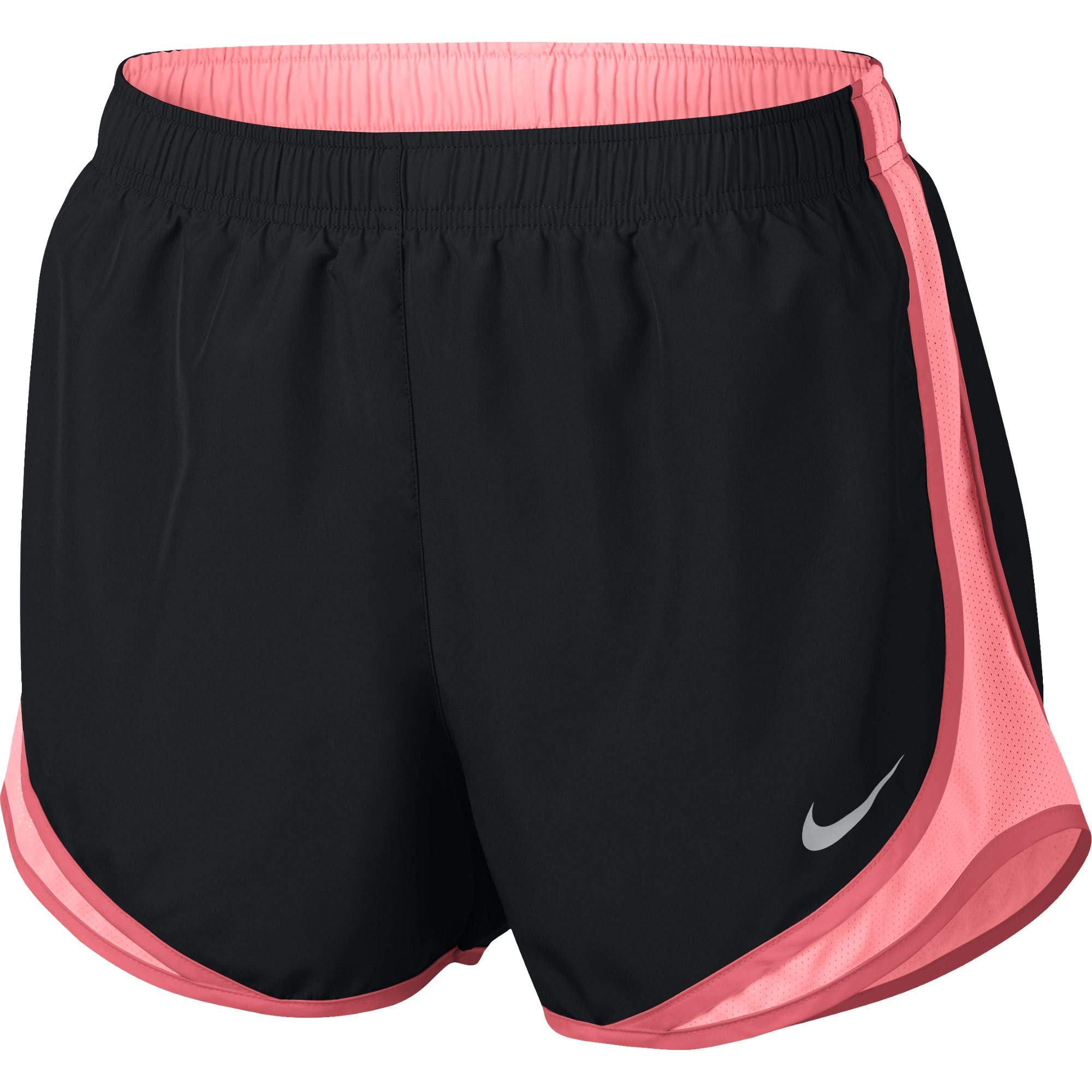 Nike Women's Tempo Running Shorts, Black/Pink Gaze/Ember Glow/Wolf Grey, Size X-Small