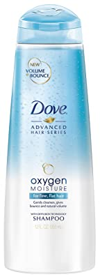 Dove Shampoo, Oxygen Moisture