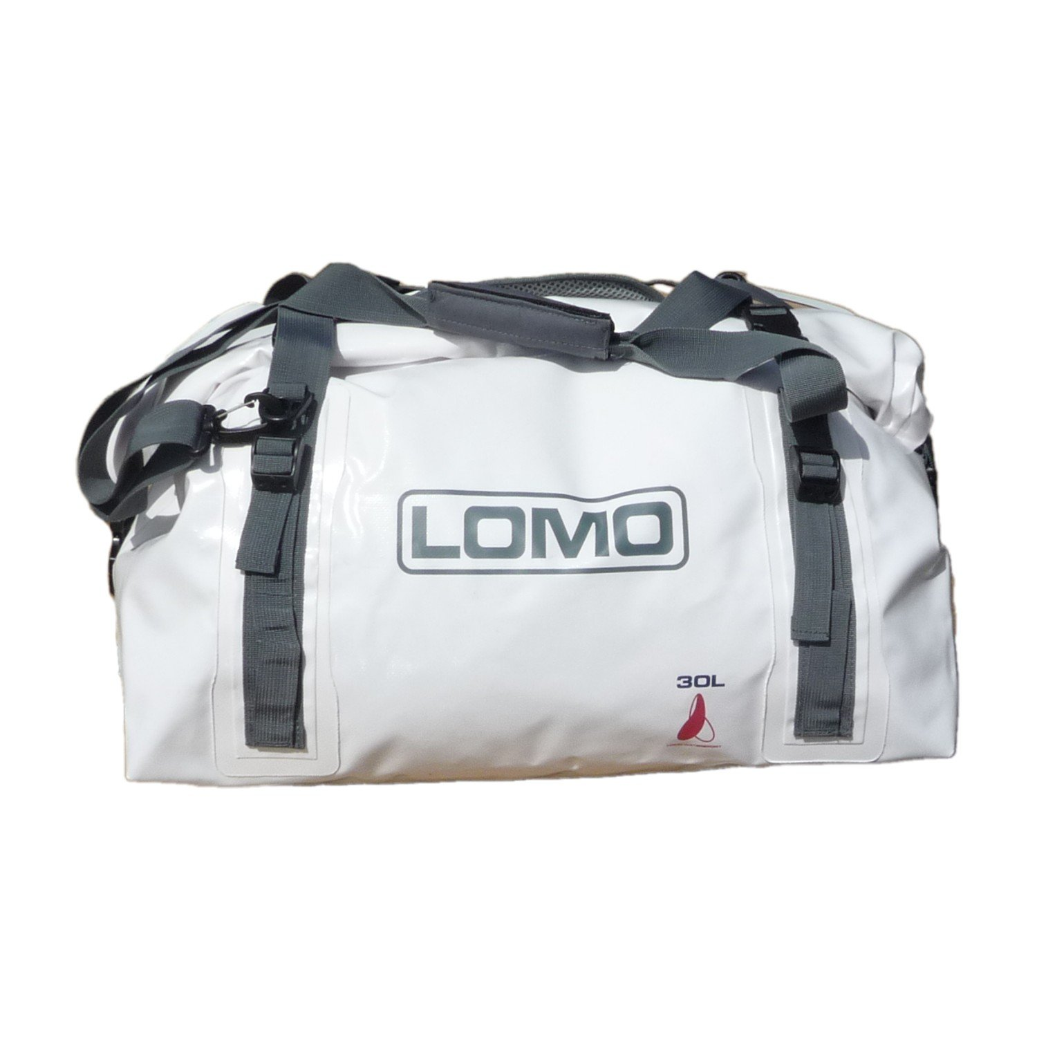 5e7b2c9706 30L White Holdall Duffel Waterproof Rolltop Dry Bag  Amazon.co.uk  Sports    Outdoors