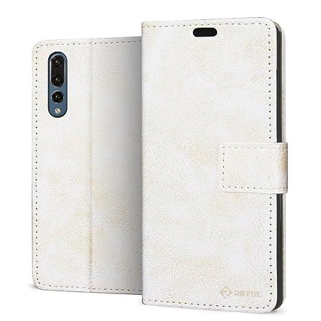 RIFFUE® Funda Huawei P20 Pro, Carcasa Libro Piel PU Fina ...