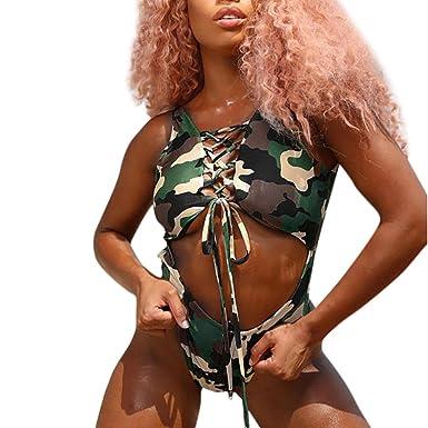 509a87b9e1edb Chanyuhui Women Bikini Swimwear Two Piece Camouflage Padded Bra Swimsuit  Beachwear Bathing Suit On Sale -
