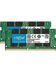 Crucial CT2K16G4SFD8266 32 GB Kit (16 GB x2) (DDR4, 2666 MT/s, PC4-21300, Dual Rank x8, SODIMM, 260-Pin) Memory