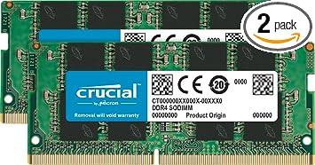 Crucial 8gb Kit 4gbx2 Ddr4 2400 Mt S Pc4 19200 Sr X8 Sodimm 260