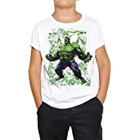 DibuNaif Camiseta Niño - Unisex Superhéroe Hulk