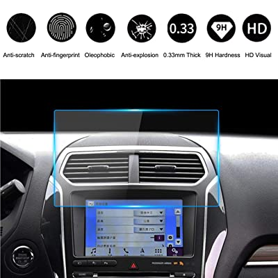 Compatible with 2013-2020 Ford Tempered Glass Screen Protector 8 Inch, HeyMoly 9H Car Navigation Display Protector, F-150 F250 F350 F450 Sync2 Sync3 Escape Expedition Everest EcoSport Fusion Focus RS: GPS & Navigation