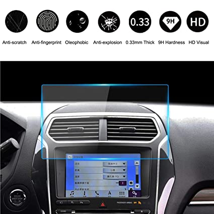 Amazon com: 9H Ford Tempered Glass Screen Protector 8 Inch