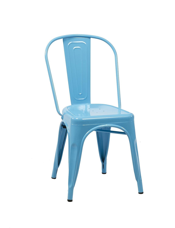 Birlea Vasper Chair, Metal, Black, 54 x 44 x 84 cm, Set of 2 Birlea Furniture VASCH2BLK