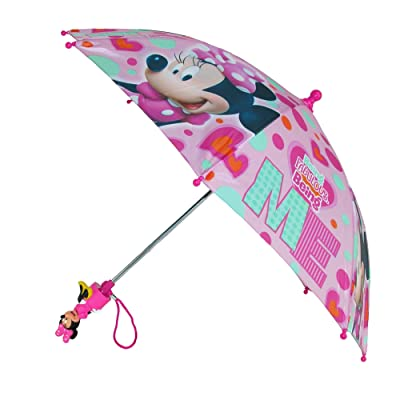 Disney Kid's Minnie Mouse Umbrella with Character Handle