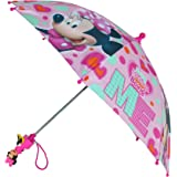 Disney Kids Minnie Mouse Umbrella with Character Handle, Pink