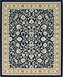 Unique Loom Kashan Collection Navy Blue 8 x 10 Area