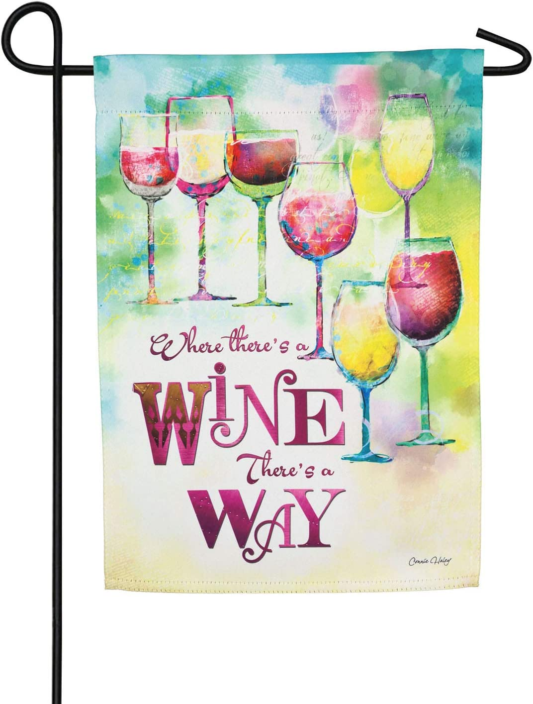 Where There's A Wine Garden Suede Flag - 13 x 1 x 18 Inches