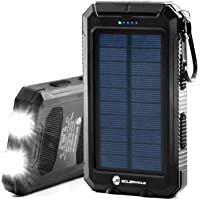 Solar Charger 30,000mAh, S Solarprous Portable Solar Battery Charger External Battery Pack Phone Charger Power Bank for…