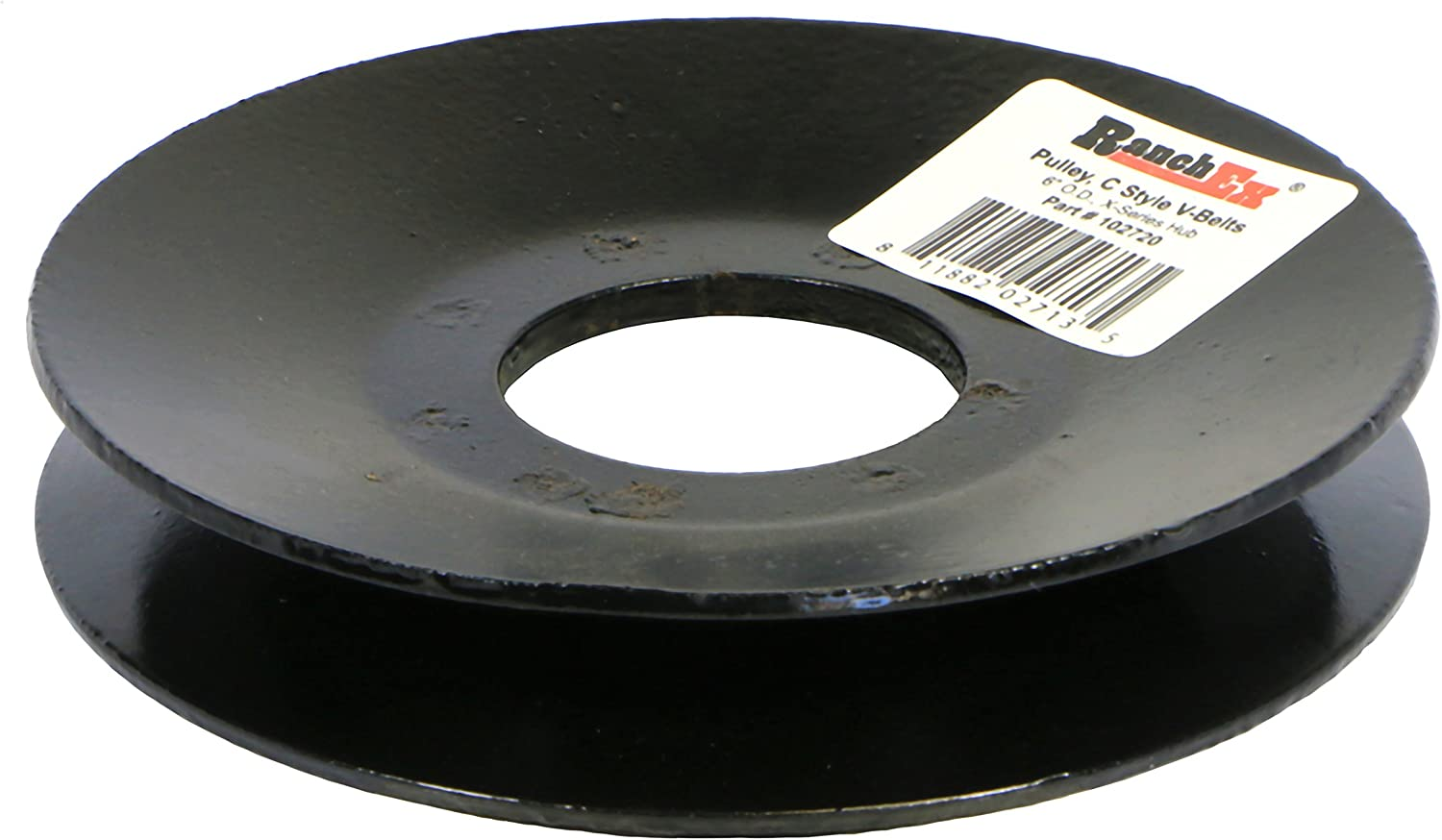 6 Outside Diameter Fits Hub Series X RanchEx 102720 Pulley For V-Belts Style C