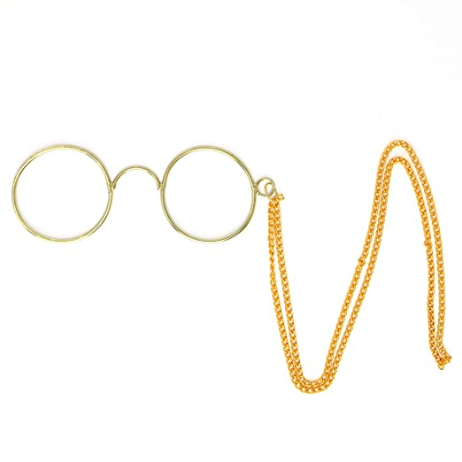 70848ac0a0a Amazon.com  Skeleteen Pince Nez Spectacle Glasses - Theodore Roosevelt  Armless Dress Up Glasses - 1 Pair  Clothing
