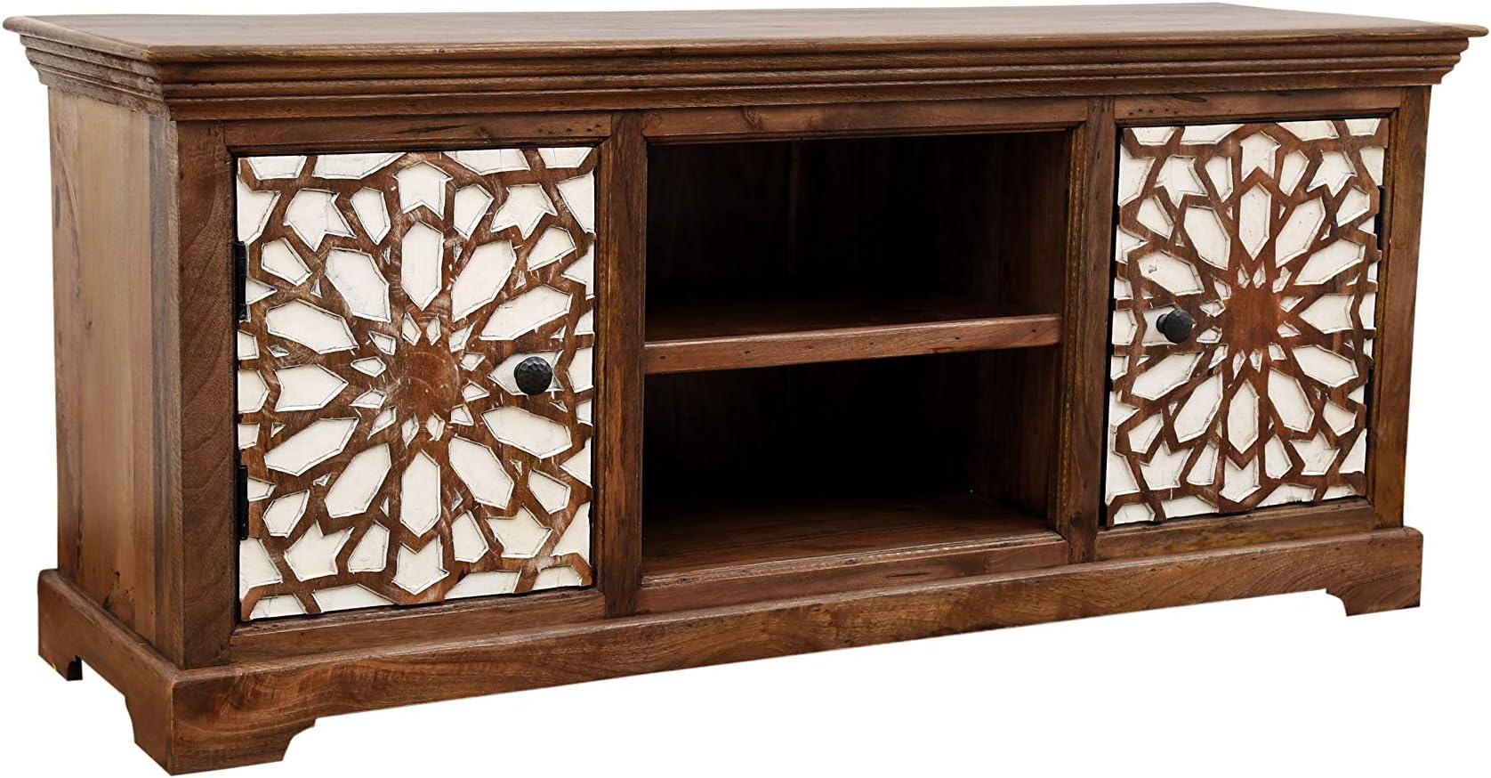 Marrakesch Rabat - Mueble bajo para televisor (150 cm, madera maciza), diseño oriental: Amazon.es: Juguetes y juegos