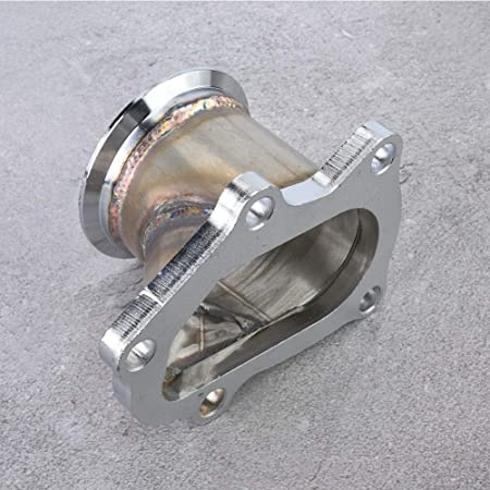 Fydun Flange Adapter 5 Bolt Turbo Downpipe Flange to 2.5 V-Band Conversion Adaptor