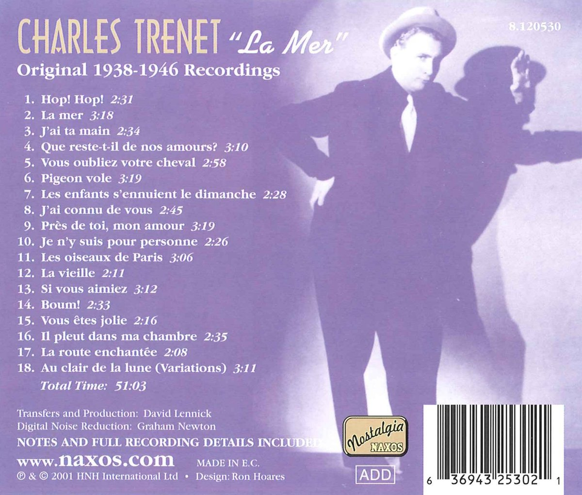 Charles Trénet La Mer (1938-1946) by Naxos