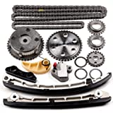 SCITOO L3K9-12-614 Timing Chain Kit Tensioner Guide Rail Crank Gear Cam Gear