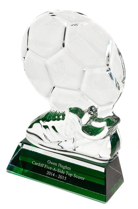 Jade personaliseitonline premio trofeo de cristal tintado con bola ...
