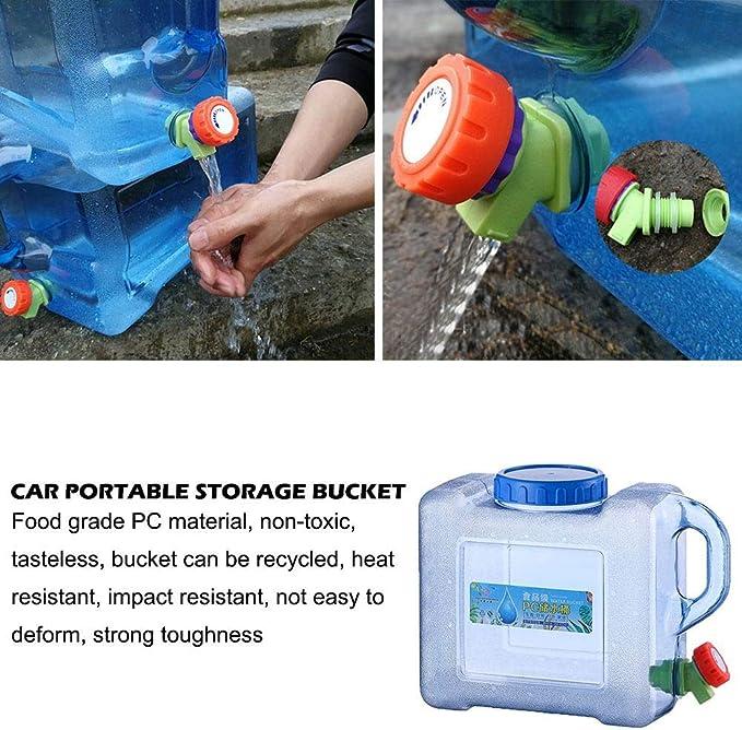 Bid/ón de agua para camping con grifo 5 L//8 L Quiet.T