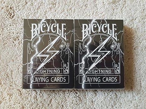 Bicycle 2 x Cartas de Juego Playing Cards Black Lightning ...