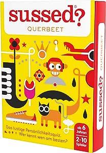 SUSSED QUERBEET (EDICIÓN Alemana) (Divertidísimo y Familiar Juego de conversación de Cartas) (Descubre quién Conoce Mejor a quién): Amazon.es: Juguetes y juegos