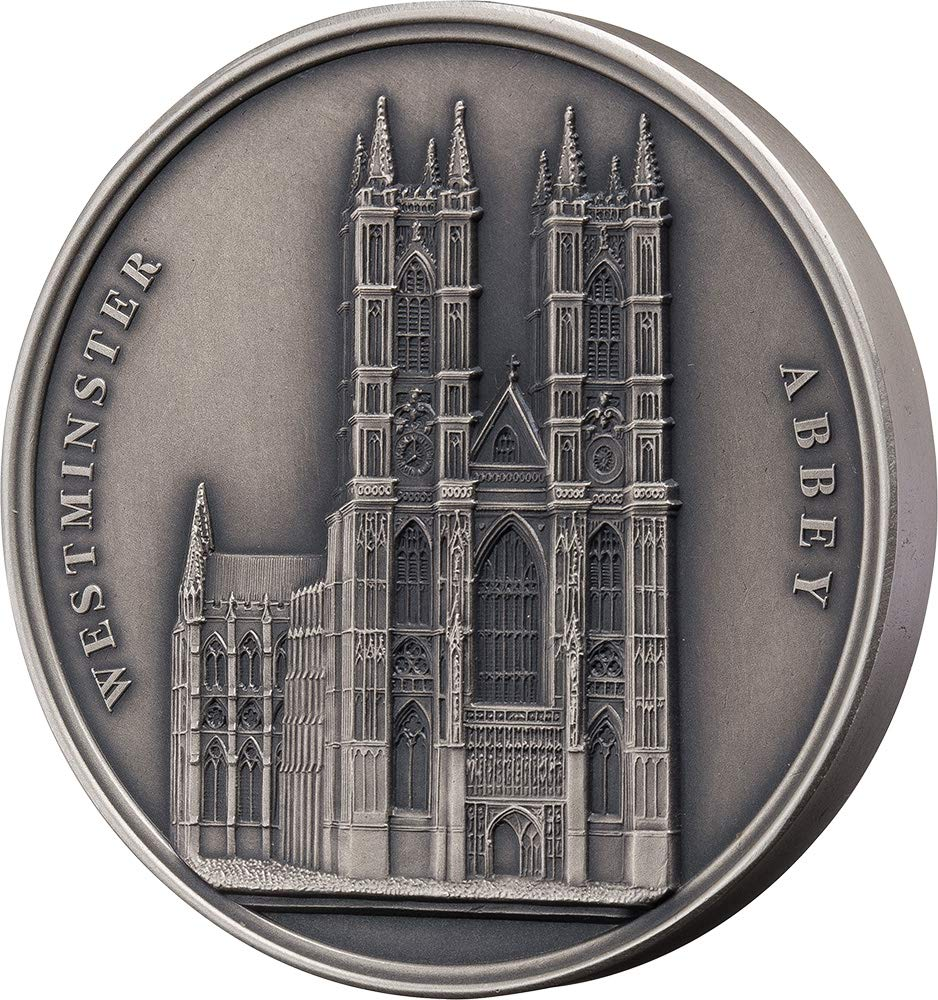 Power Coin Westminster Abbey Mauquoy Infinity Minting Silber Münze 1500 Franken Benin 2018