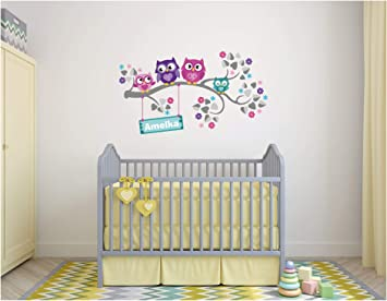 Wandtattoo Kinder Babyzimmer Aufkleber Eule Eulen Wandsticker Wand Waldtiere Kinderzimmer Wandaufkleber Dekoration Furs Baby Kindergarten Baum Tiere Kinderzimmer Amazon De Baumarkt