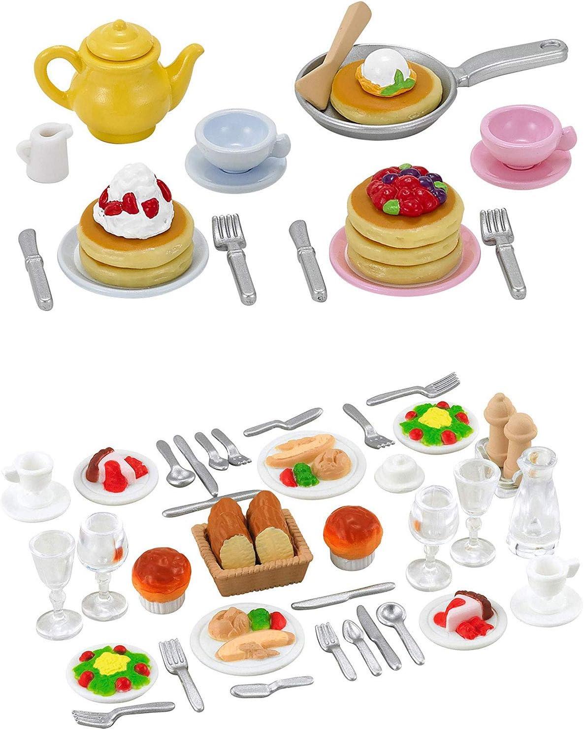 2 Food Sets - Dinner Set and Pancake Set (Japan Import)