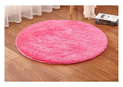 Amazon.com: Ultra Soft Round Shaped Bedroom Carpet,Decorative Living ...