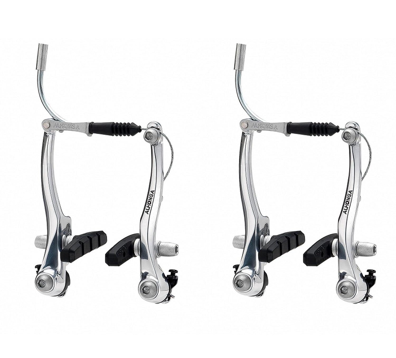 2x Frenos Puente V Brake ALHONGA de Aluminio Plata para Bicicleta ...